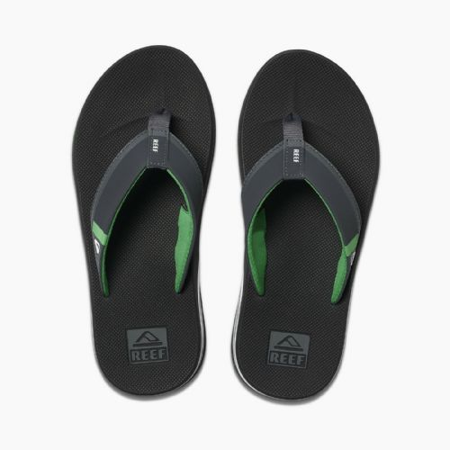 REEF MENS FLIP FLOPS.FANNING LOW BLACK ARCH SUPPORT THONGS SANDALS SHOES 9S 3 BK